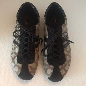 "Coach(#Q511) Kathleen ""C"" Signature Sneakers"